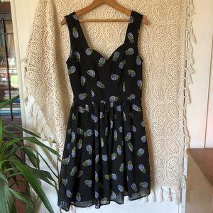 Dresses & Skirts - Delia's black skater dress with pineapple graphics